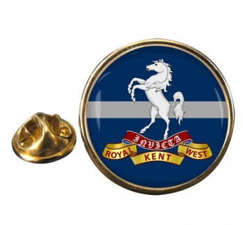 Queen's Own Royal West Kent Regiment (British Army) Round Pin Badge