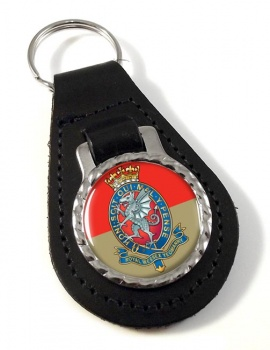 Royal Wessex Yeomanry Leather Key Fob