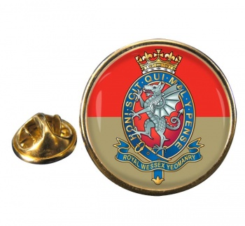 Royal Wessex Yeomanry Round Pin Badge