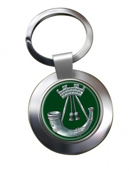 Somerset and Cornwall Light Infantry (British Army) Chrome Key Ring