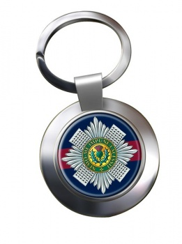 Scots Guards (British Army) Chrome Key Ring