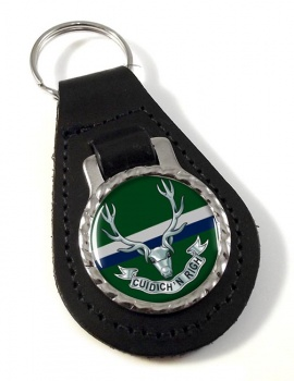 Seaforth Highlanders (British Army) Leather Key Fob