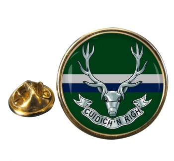 Seaforth Highlanders (British Army) Round Pin Badge