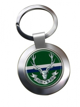 Seaforth Highlanders (British Army) Chrome Key Ring