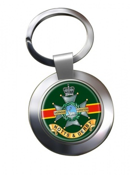 Sherwood Foresters Chrome Key Ring