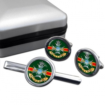 Sherwood Foresters Round Cufflink and Tie Clip Set