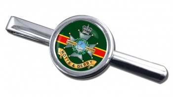 Sherwood Foresters Round Tie Clip