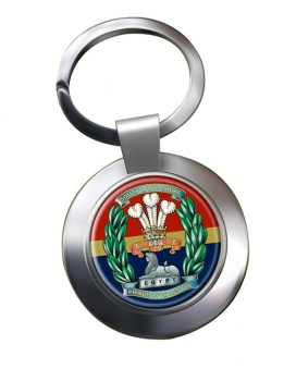 South Lancashire Regiment (British Army) Chrome Key Ring