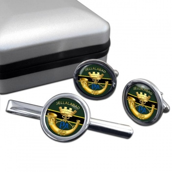 Somerset Light Infantry (British Army) Round Cufflink and Tie Clip Set