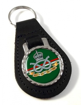 South Staffordshire Regiment Leather Key Fob