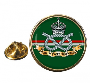 South Staffordshire Regiment Round Pin Badge