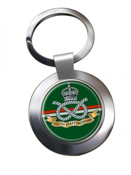 South Staffordshire Regiment Chrome Key Ring