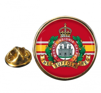 Suffolk Regiment (British Army) Round Pin Badge