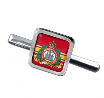 Suffolk Regiment (British Army) Square Tie Clip