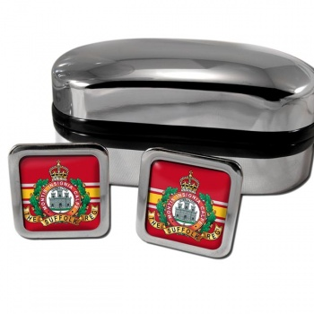 Suffolk Regiment (British Army) Square Cufflinks