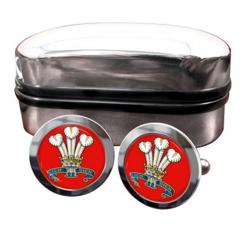The Prince Of Wales's Division (POW) British Army Round Cufflinks