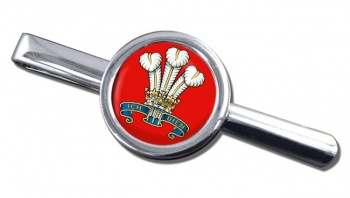 The Prince Of Wales's Division (POW) British Army Round Tie Clip