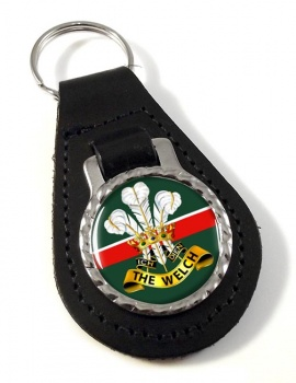 Welch Regiment (British Army) Leather Key Fob