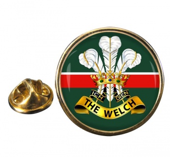 Welch Regiment (British Army) Round Pin Badge