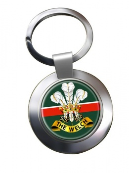 Welch Regiment (British Army) Chrome Key Ring