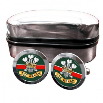 Welsh Regiment (British Army) Round Cufflinks