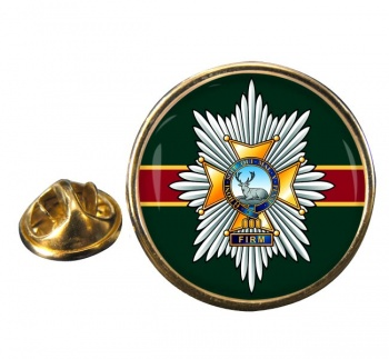 Worcestershire & Sherwood Foresters Regiment Round Pin Badge