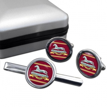 West Yorkshire Regiment (British Army) Round Cufflink and Tie Clip Set