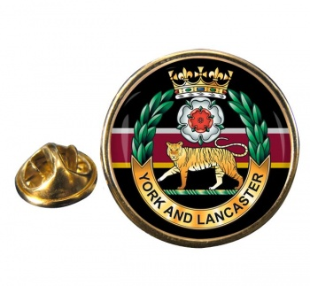 York and Lancaster Regiment Round Pin Badge