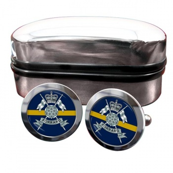 Yorkshire Yeomanry (British Army) Round Cufflinks