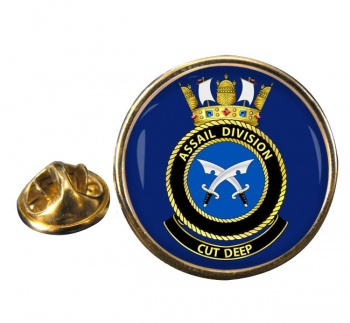 Assail Division R.A.N. Round Pin Badge