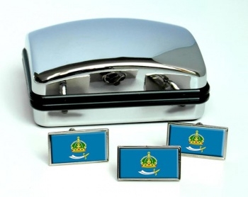 Astrakhan Oblast Flag Cufflink and Tie Pin Set