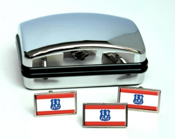Asuncion (Paraguay) Flag Cufflink and Tie Pin Set