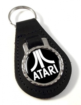 Atari Leather Key Fob