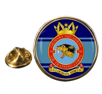ATC 195 Grimsby Round Pin Badge