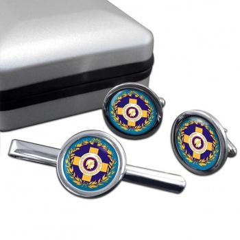 Athens  (Greece) Round Cufflink and Tie Clip Set
