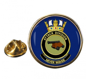 Attack Division R.A.N. Round Pin Badge
