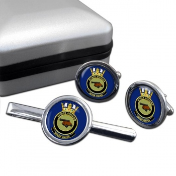 Attack Division R.A.N. Round Cufflink and Tie Clip Set