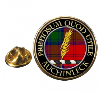 Auchinleck Scottish Clan Round Pin Badge