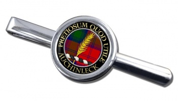 Auchinleck Scottish Clan Round Tie Clip