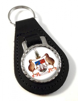Auckland (New Zealand) Leather Key Fob