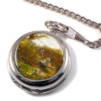 Where the Water Lilies Grow by James Aumonier Pocket Watch