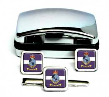 Royal Australian Survey Corps Square Cufflink abd Tie Clip Set