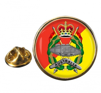 Royal Australian Armoured Corps Round Pin Badge