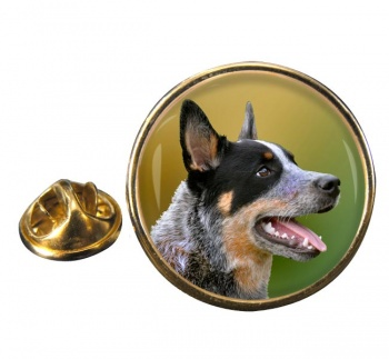 Australian Cattle Dog Round Pin Badge