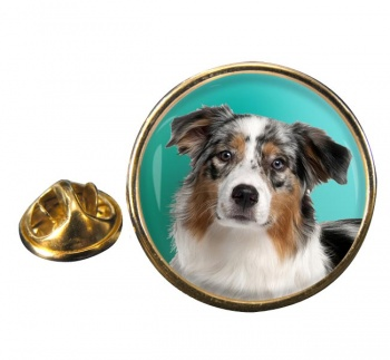 Australian Shepherd Round Pin Badge