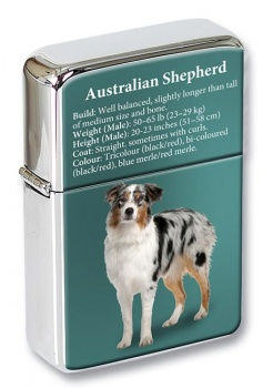 Australian Shepherd Flip Top Lighter