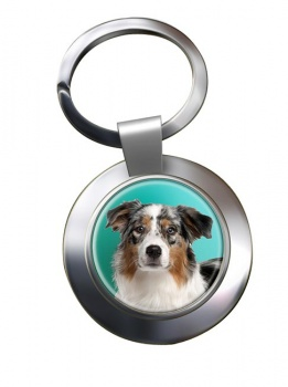 Australian Shepherd Metal Key Ring