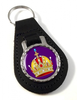 Austrian Imperial Crown Leather Key Fob