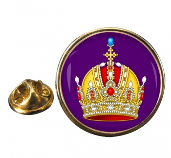 Austrian Imperial Crown Round Pin Badge