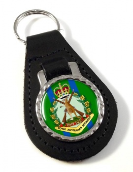 Royal Australian Regiment Leather Key Fob